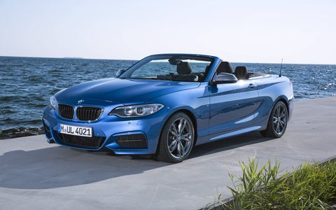 The M235i convertible gets either an eight-speed automatic or a six-speed manual transmission.