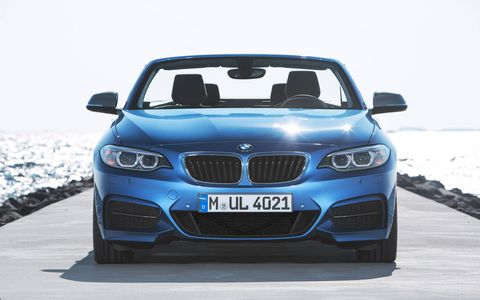 Adaptive M suspension can lower the ride height of the M235i by a centimeter compared to the stock 2-series.