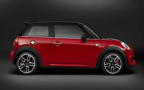 The 2015 Mini John Cooper Works Hardtop delivers 228 hp and 236 lb-ft of torque.