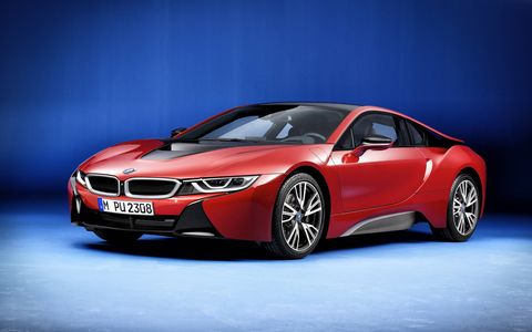 BMW will unveil a Protonic Red i8 at the Geneva motor show.