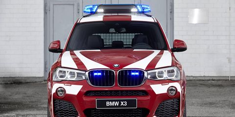 BMW turned a number of its models into emergency vehicles for the annual RETTmobil expo.