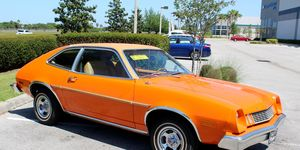 """This orange 2.3-liter-powered Pinto is close enough to be a stunt double for the """"Charlie's Angels"""" car."""