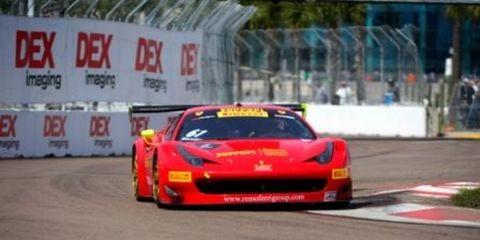 Olivier Beretta took the Pirelli World Challenge GT race on Sunday at St. Petersburg.