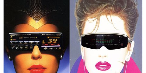 Back in 1987, you had a cassette deck and separate equalizer unit, attached to human faces.
