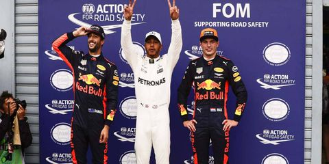 Lewis Hamilton broke Michael Schumacher's Formula 1 pole record on Saturday in Monza.
