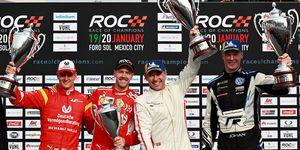 Team Nordic's Tom Kristensen and Johan Kristoffersson edged out Team Germany's Sebastian Vettel and Mick Schumacher.