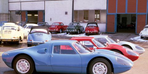 Vintage pictures of car dealerships are always interesting -- especially when the cars have since climbed in value.