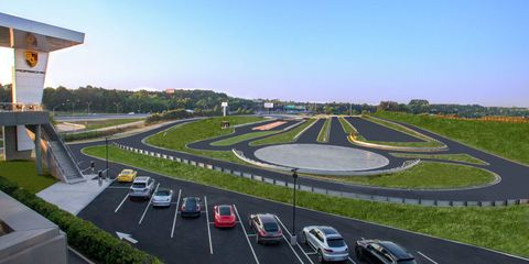 The Porsche Experience Center campus includes a restaurant, museum and driving course.