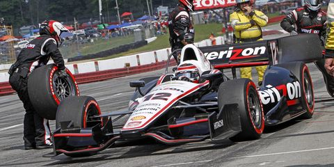 Team Penske driver Will Power has a four-point lead over teammate Helio Castroneves in the Verizon IndyCar Series points race.