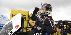 Austin Prock advanced to the second round of Top Fuel eliminations at Pomona for John Force Racing.