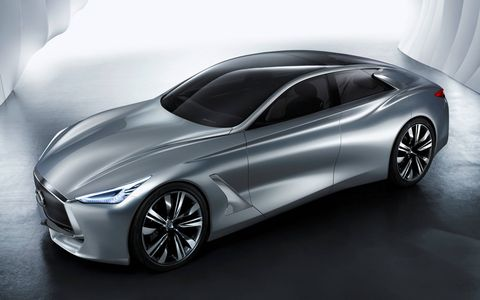 The Infiniti Q80 Inspiration has dramatic lines and lots of concept touches, but there's also a lot here that could make it to a production flagship if the marque was so inclined.