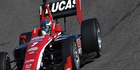 Schmidt Peterson Racing is suing former Indy Lights driver R.C. Enerson for breach of contract.