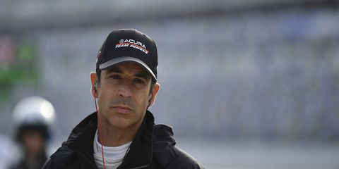 Hélio Castroneves' new job is driving one of Team Penske's Acuras in IMSA