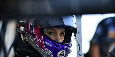 Katherine Legge is driving for Michael Shank Racing this weekend in Detroit.