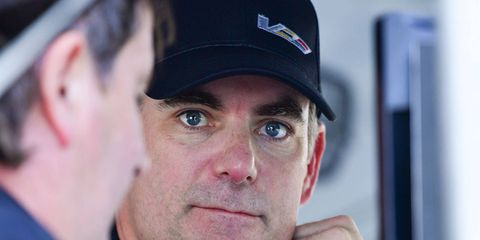 Jeff Gordon was testing for Wayne Taylor Racing at Daytona on Tuesday.