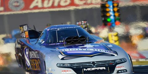 Funny Car racer Jack Beckman earned his 16th career NHRA top-qualifier spot on Saturday.