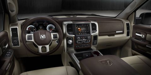 The 2014 Ram 1500 Laramie Limited Edition Crew Cab in our test fleet received a boatload of additional options included heated seats and power 10-way drivers seat with memory.