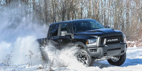 The Ram 1500 Rebel Black is powered by either a 3.6-liter V6 or 5.7-liter V8.
