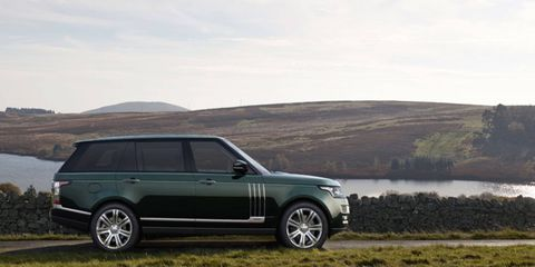 The Holland & Holland Edition Rangie will come to the States, compete with camo spray-painted pickup trucks.