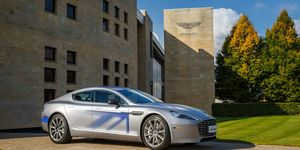 The Aston Martin RapidE concept, which electrifies the automaker's V12-powered luxury touring sedan, previews a zero-tailpipe-emission car that could reach production in as little as two years.