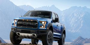 The Ford F-150 Raptor was unveiled in Detroit on Monday.