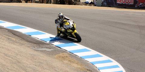 MotoAmerica raced at Mazda Raceway Laguna Seca over the weekend.