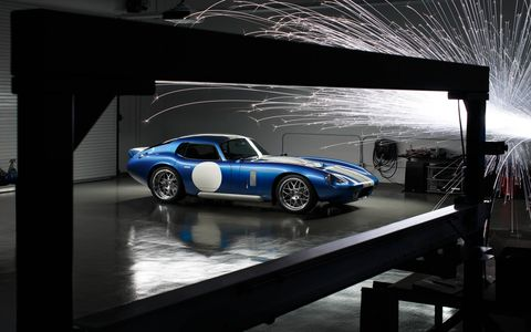 The all-electric two-seater is built on the Shelby CSX9000 chassis.