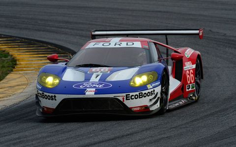 The No. 66, Ford, GT, GTLM that will be driven in the 24 by Joey Hand, Dirk Muller and Sebastien Bourdais.