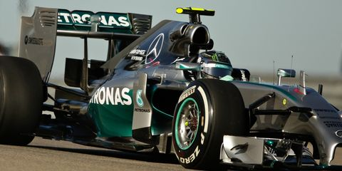Nico Rosberg is on the pole for the U.S. Grand Prix in Austin, Texas.