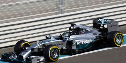 Nico Rosberg, shown here at the Abu Dhabi test in November, believes that the 2015 Formula One season will again be a battle between Mercedes drivers for the title.