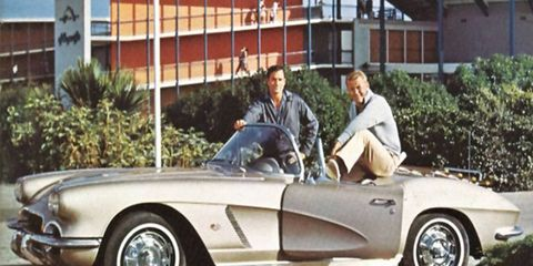 The series starred Martin Milner and George Maharis, along with a Chevrolet Corvette.