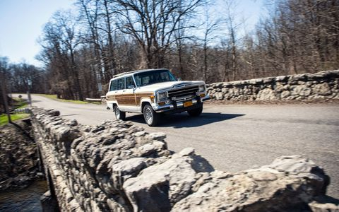 The Grand Wagoneer eats up the road thanks to its big V8.