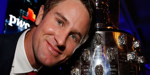 Ryan Hunter-Reay saw his likeness on the Baby Borg trophy.