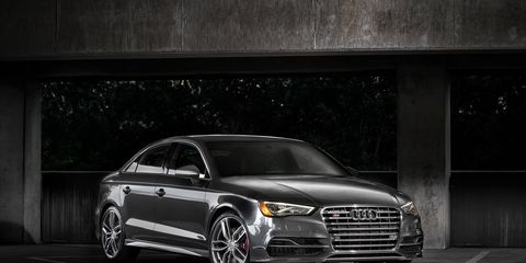 It's the limited-edition 2015 Audi S3. You'll notice that it looks like the non-limited 2015 Audi S3, except that there will only be 350 of them.