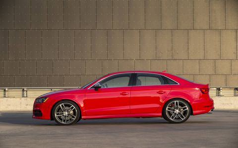S3-specific trim gives the car a more aggressive appearance than the standard A3.