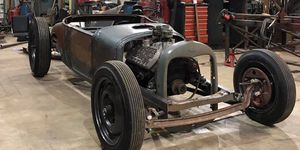 Sheehan's Ford Model T starts to look like a hot rod during as it begins to roll out of the mock up phase.