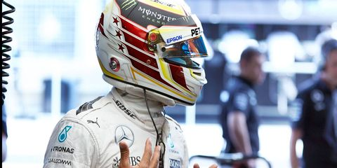 After back-to-back victories, defending Formula One champion Lewis Hamilton finished fifth in the European Grand Prix at Baku.