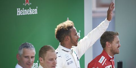 Lewis Hamilton now leads the Formula 1 championship standings by three points.