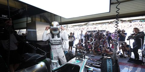 """Former F1 champion Jacque Villeneuve says Lewis Hamilton (above) has acted like a """"spoiled child."""""""