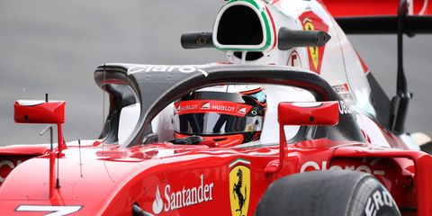 Ferrari tested a prototype of the halo device (shown above) in March in Barcelona.