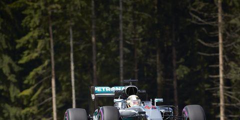 Lewis Hamilton won the Formula One pole in Austria on Saturday.