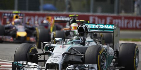 NIco Rosberg raced in last year's Canadian Grand Prix. Check out how this year's race will be affected by braking.