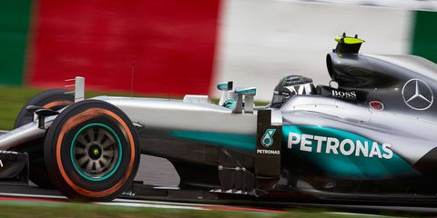 While Mercedes teammate Lewis Hamilton failed to show for a Pirelli Tire test in Barcelona this week, points leader Nico Rosberg turned laps.