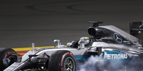 Lewis Hamilton was given a five-place grid penalty for changing a gearbox in China.