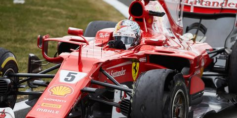 Sebastian Vettel leads Lewis Hamilton by just one point in the F1 championship standings.