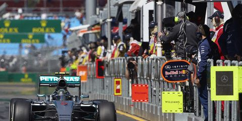 Nico Rosberg leads the way in Melbourne.