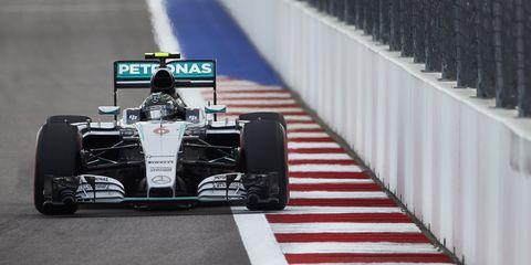 Nico Rosberg took the pole Saturday in Sochi.