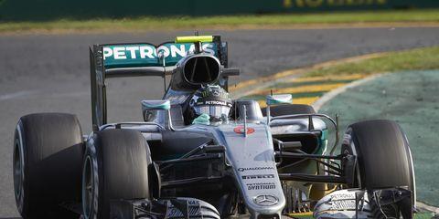 Nico Rosberg won Sunday's F1 race in Australia.