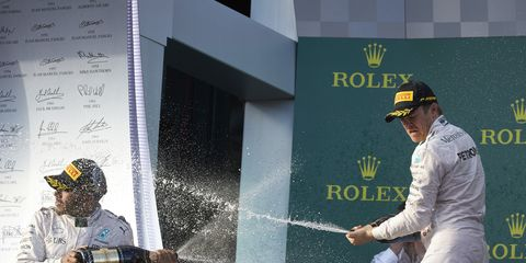 Mercedes drivers Lewis Hamilton and Nico Rosberg have dominated Formula One for the last three seasons.