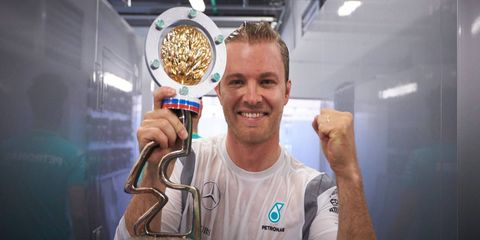 Nico Rosberg left Sochi with a trophy and a commanding 43-point lead in the Formula One standings.